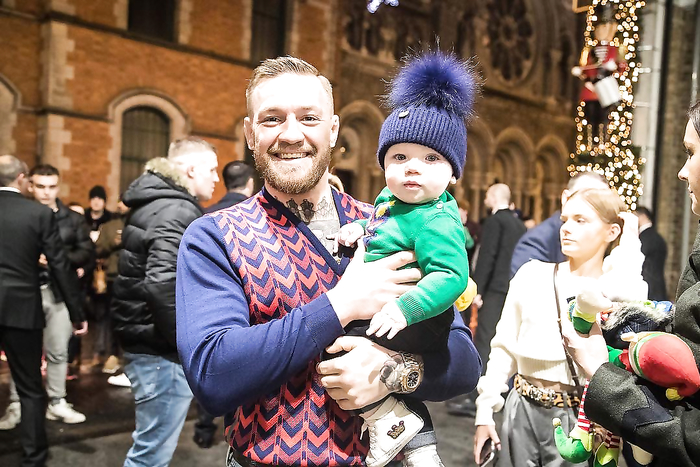 McGregor with his son back in Ireland For Cristmas.