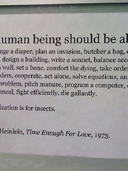 A human being should be able.