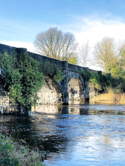 Railway Bridge in Belturbet Ireland.