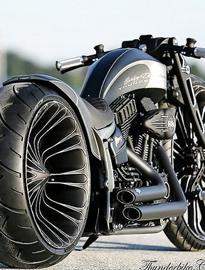 A badass bike, wow.