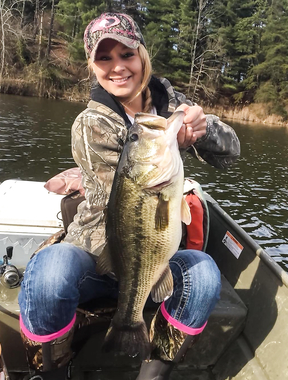 Girls do fishing too.