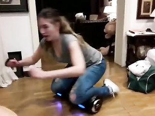 Girl testing her new toy. Lol