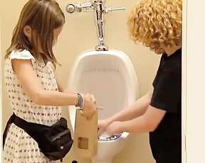 candy from mens toilet prank, funny reaction.