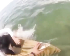 Fishing men attacked by shark.