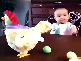 Funny toys and baby's.