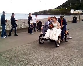 Wedding in Bray, Dublin, Ireland.