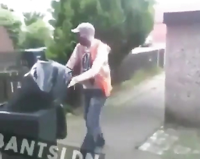 Bin prank goes wrong.