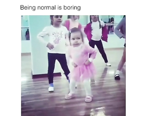 Lol this little girl has better moves than me.