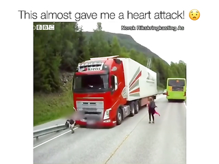 Awesome truck driver, lucky kids.