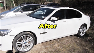 Frankenstain Mutant BMW 7 Series full body repair after crush.