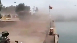 Tanks jumped into the river.