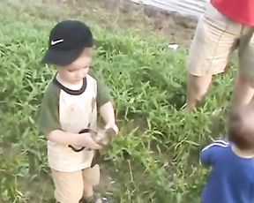 His very first fishing trip and very well his last..