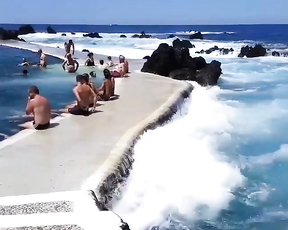 Natural Pools.Porto Moniz Madeira Island, Portugal