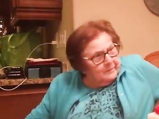 Italian grandmother learning to use Google home.