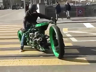 This motorcycle looks insane.