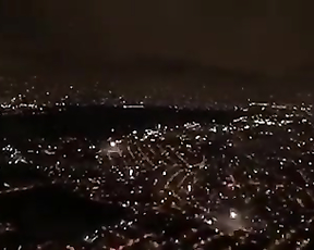 Amazin view of FireWorks from AirPlane.
