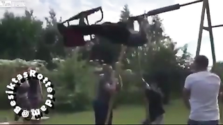 he try to fly but ...