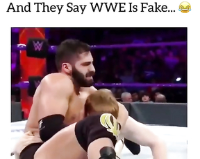 And they say WWE is fake.
