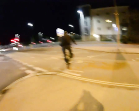 Fail on bicycle.