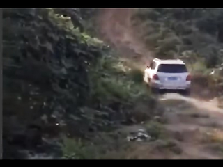 Car falls off cliff
