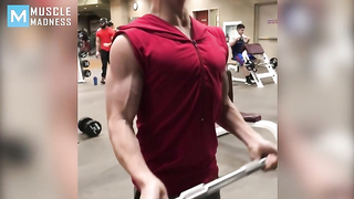 15 years old bodybuilder