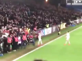 Absolute scenes in the away end