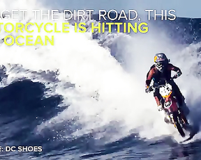 Motorcycle Surfing Is Real, And Insanely Epic