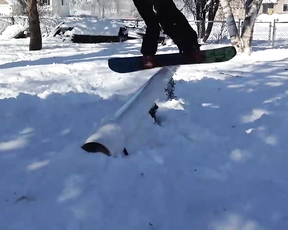This Snowboarder Breaks His face. lol