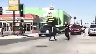 This insane woman goes bezerk and attacks a...