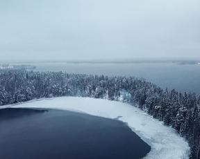 Video from Above with Drone - Novgorod region.