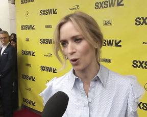 Emily Blunt At SXSW Premiere For 'A Quiet Place'.