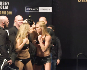 UFC 193: Ronda Rousey vs Holly Holm Weigh-in Faceoff
