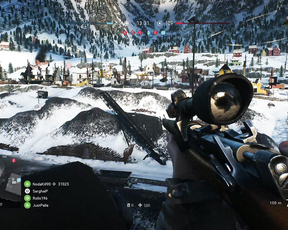 Sniper in Battlefield five beta