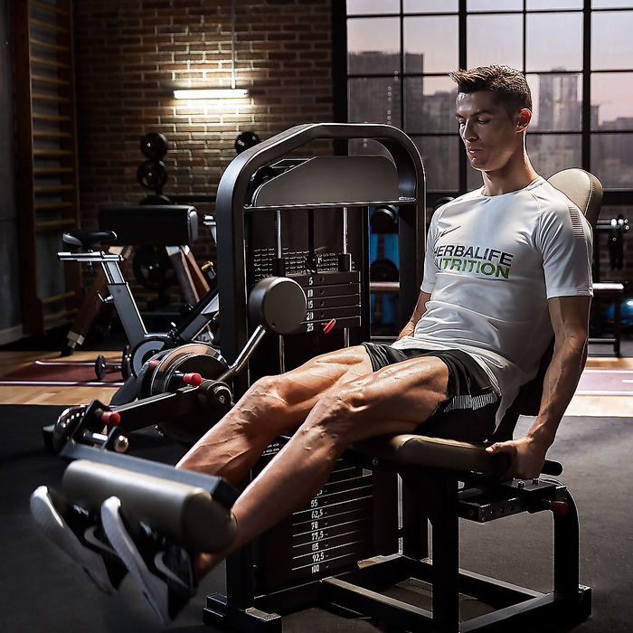 Cristiano Ronaldo, always fit, keep it up!