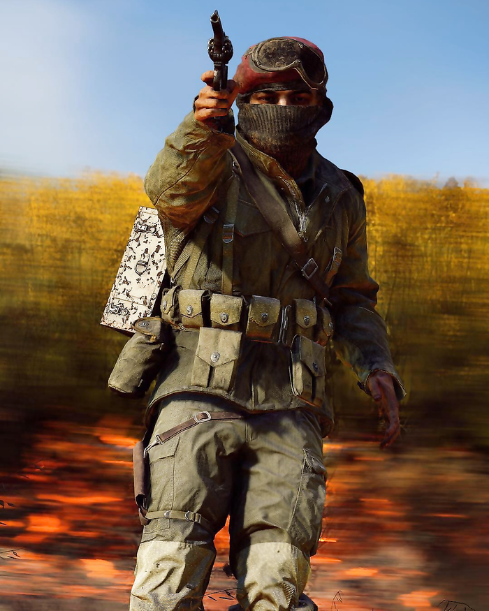 Playing with fire on Battlefield 5.
