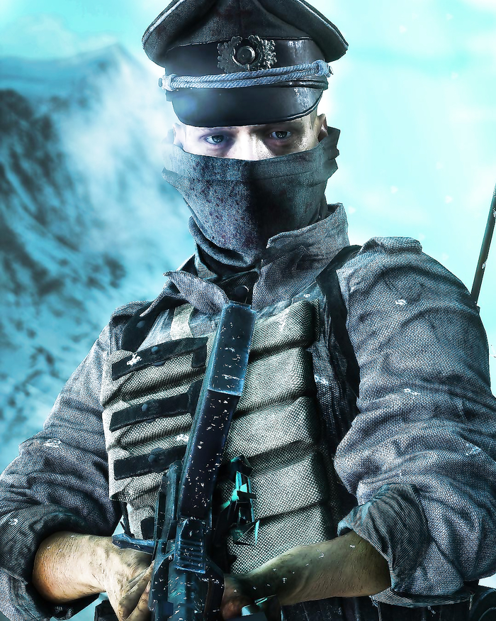 Pictures of German soldier in Battlefield Five.
