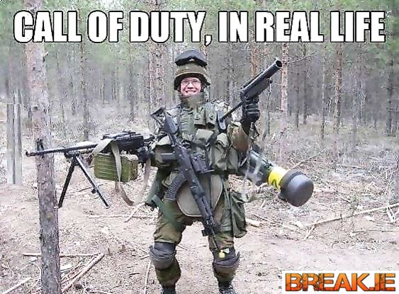 Call of duty soldier in real life