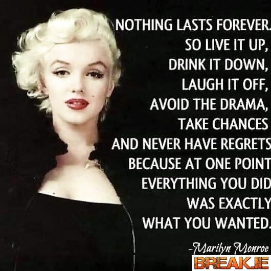 Nothing last Forever.