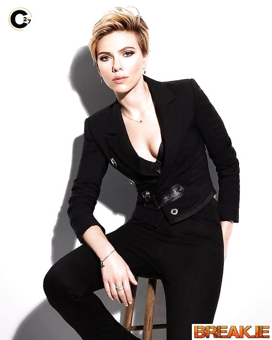 Scarlett Johansson looks cooler in suits than most men