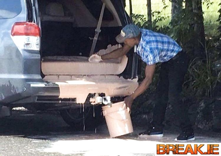 He bought paint, bought an SUV, didn't buy a smart head LOL.