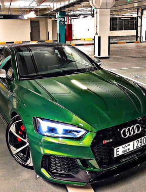 Audi RS5 super Green.