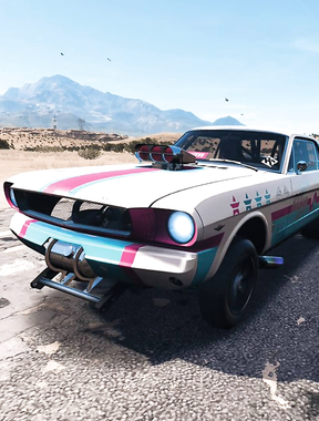 Riot Club's '65 Ford Mustang is up...