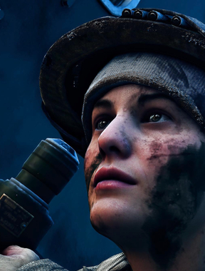 Scouting Girl in Battlefield Five, Awesome resolution.