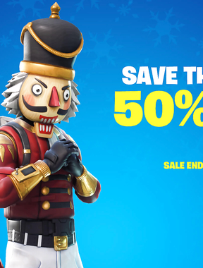 SAVE THE WORLD 50% OFF SALE on Fortnite.