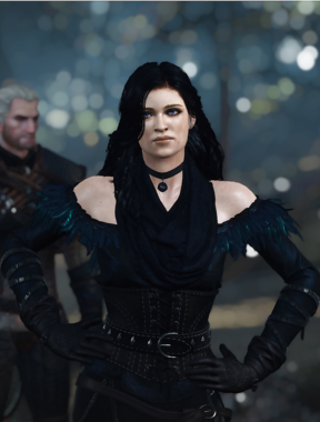 Yennefer Anya Chalotra Retexture - The Witcher 3 video game.