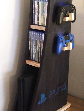 Vertical shelving for console PS4 .