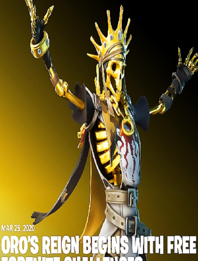 The fabled golden skeleton has come to finally claim his kingdom — the new, Legendary rarity Oro Outfit is now available in the Item Shop!