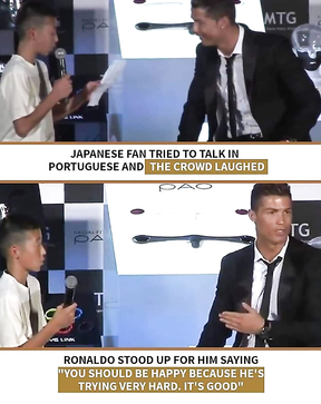 Japanese fan tried to talk with Ronaldo in Portuguese