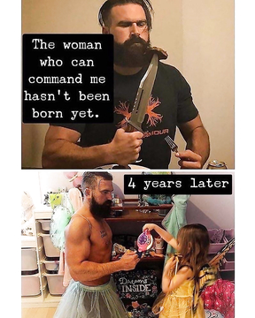 The woman who can comand me hasn't been born yet.