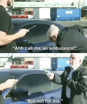 Ahh call me an  ambulance, but not for me.